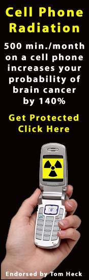 Cell phone radiation: 500 minutes/month on a cell phone increases your probability of brain cancer by 140%.  Get protected.