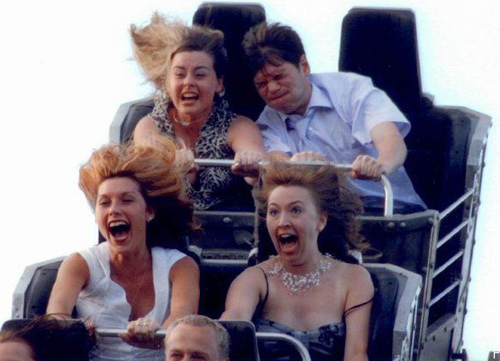 Funny People On Roller Coasters